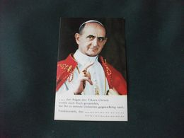 SANTINO HOLY PICTURE  TEDESCO PAPA PAOLO VI - Religion &  Esoterik