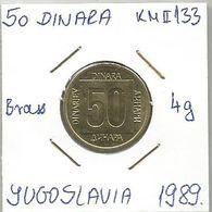 G2 Yugoslavia 50 Dinara 1989. KM#133  Key Date - Joegoslavië