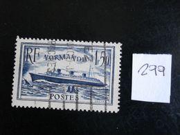 "France 1934-36 - 1f50 Bleu Paquebot ""Normandie"" - Y.T. 299 - Oblitéré - Used - Gestempeld. - France"