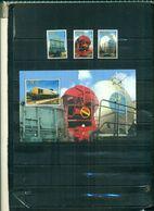 BELGIQUE TIMBRES DES CHEMINS DE FER 2000 WAGONS 3 VAL + BF NEUFS A PARTIR DE 2.50 EUROS - Ferrovie