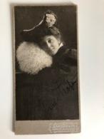 Kabinettfoto 16x8,5cm Frau Femme Mode Hutmode Samson Co Gorlitz Dresden 1906 - Persone Anonimi