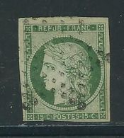 FRANCE N° 2 B Obl. Seul Défaut Marge Touchée En Bas - 1849-1850 Ceres