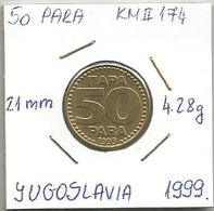 G4 Yugoslavia 50 Para 1999.  KM#174 - Joegoslavië