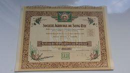 AGRICOLE DU SONG RAY (saigon,indochine) - Shareholdings