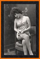 French Risque STOCKINGS LINGERIE Photo Postcard Original Old 1910s Ca 2471.LCaP40 - Nus Adultes (< 1960)