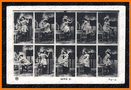 French Nude Woman JA Serie 31 Stock Card Photo Postcard Original Old 1910s Ca 2462.LCaP40 - Nus Adultes (< 1960)