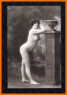 French Nude VASE And COLUMN Woman Photo Postcard Original J.A. Mark Old 1910s Ca 2473.LCaP40 - Nus Adultes (< 1960)