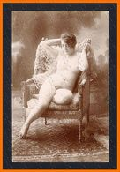 French Full Nude Woman On SOFA And CARPET Citrate Toning Photo Postcard Old 1910s Ca 2470.LCaP40 - Nus Adultes (< 1960)