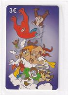 GREECE - Looney Tunes, Amimex Prepaid Card 3 Euro, Tirage 2000, Mint - Disney