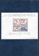 146-Allemagne III REICH-1936 BLOC  N 5 NEUF** Jeux Olympiques - Blocks & Sheetlets