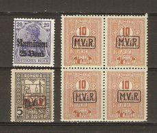 Roumanie 1917/18 - Occupation Allemande - Petit Lot De Timbres Surchargés  - MViR - Rumänien - MNH - 1 Bloc De 4 - Occupazione