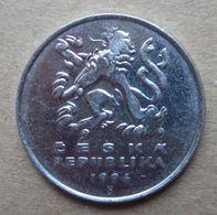 1994 CECOSLOVACCHIA Leone Araldico 5 Korun - Circolata - Checoslovaquia
