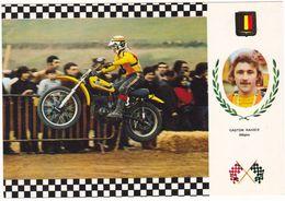 Prix Fixe - Motocross - Gaston Rahier ( Belgica) Sur Suzuki # 2-14/6 - Cartoline