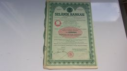 SELANIK BANKASI   Banque De Salonique - Shareholdings