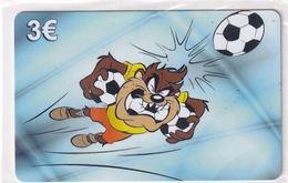 GREECE - Looney Tunes/Taz, Amimex Prepaid Card 3 Euro, Tirage 2000, Mint - Disney