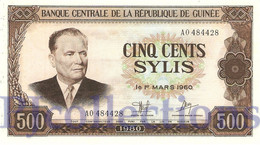 GUINEA 500 SYLIS 1980 PICK 27 AUNC - Guinea