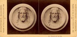 Stereo, Cauer, Christuskopf, Sophus Williams, Sculpturen Gallerie, 1876 - Visores Estereoscópicos