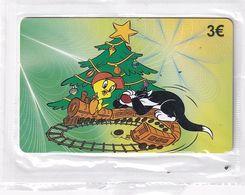 GREECE - Looney Tunes/Tweety & Sylvester The Cat, Amimex Prepaid Card 3 Euro, Tirage 2000, Mint - Disney