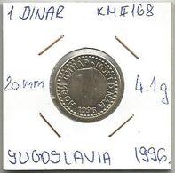 G5 Yugoslavia 1 Novi Dinar 1996. KM#168 - Joegoslavië