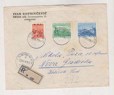 YUGOSLAVIA 1949 SLAVONSKI BROD Registered Cover - Covers & Documents