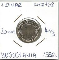 G6 Yugoslavia 1 Novi Dinar 1996. KM#168 - Joegoslavië
