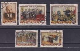 USSR 1954 Michel 1696-1700 30th Death Anniversary Of Lenin Used - 1923-1991 UdSSR