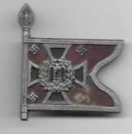 Petit Drapeau épinglette En Matière Plastique  - Nebeltruppe  - époque Du NSDAP - Militares