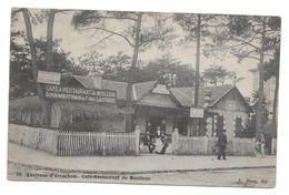 ENVIRONS D ARCACHON CAFE RESTAURANT DE MOULLEAU 1906 POUR L HOTELIER PARIS - CONVOYEURS - CPA GIRONDE - Arcachon