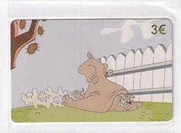 GREECE - Looney Tunes/Hector The Bulldog, Amimex Prepaid Card 3 Euro, Tirage 2000, Mint - Disney
