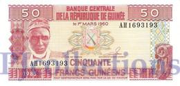 GUINEA 50 FRANCS 1985 PICK 29a UNC - Guinea