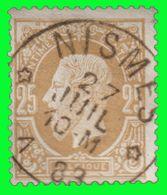 COB N° 32 - TB Oblitération - DR NISMES - 1869-1883 Leopold II