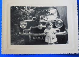 AUTO SIMCA-LE PERCHAY  Val-d'Oise 14 Juillet 1952  Photographe Photo Originale Voiture Automobile Avec Ses Super Chromes - Cars