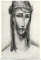 CP Colbrandt Oscar, Fusain Houtskool Museum Dr Guislain Christus - Quadri, Vetrate E Statue