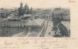 PALERMO-PANORAMA COLLA CATTEDRALE PRESO DA PORTA NUOVA-CARTOLINA VIAGGIATA IL 28-3-1902 - Palermo