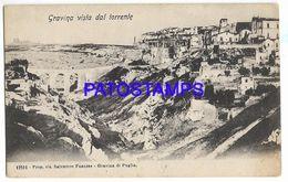 137565 ITALY GRAVINA BARI VIEW FROM THE RIVER POSTAL POSTCARD - Non Classés