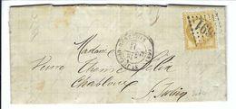 FRANCE 1874:  LAC De St Julien-en-Genevois Intra Muros Avec Le Y&T 55, Obl. GC3691 (Ind.4), CAD - 1871-1875 Ceres