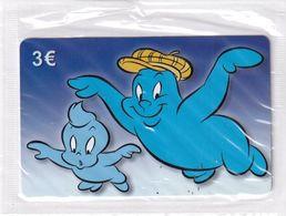 GREECE - Looney Tunes/Bully Ghost & Little Ghost, Amimex Prepaid Card 3 Euro, Tirage 2000, Mint - Disney