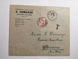 Enveloppe 1franc à Percevoir 1934 - France