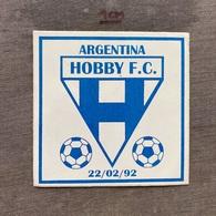 Sticker SU000052 - Football Soccer Calcio Argentina Hobby FC - Bekleidung, Souvenirs Und Sonstige