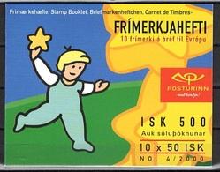 Islanda 2000 EUROPA POSTEUROP Carnet Libretto MNH - 2000
