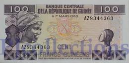 GUINEA 100 FRANCS 1985 PICK 30a UNC - Guinea