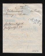 1878 HEIMAT ZÜRICH → Rechnung Jenny & Suter Droguerie & Farbwaaren  Handlung Wädensweil - Schweiz