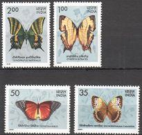 India,(1981), Butterflies. Full Set, MNH/** - Farfalle