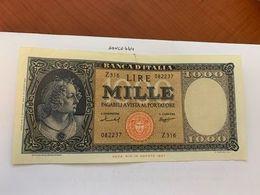 Italy Medusa Testina 1000 Lira Banknote 1947   #10 - 1000 Lire