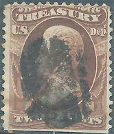 Stati Uniti D'america,United States, USA -1870 Andrew Jackson - 2 C Brownish,used - 1847-99 General Issues