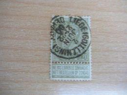 (11.07) BELGIE 1893 Nr 59  Mooie Afstempeling LIEGE - 1893-1900 Schmaler Bart
