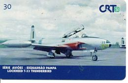Avion Jet Lockhees T-33 Télécarte Brésil Phonecard  Telefonkarten (G 271) - Avions