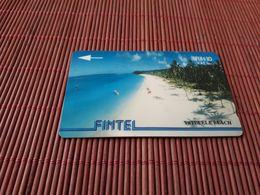 Fiji Phonecard  Fintel, 4CWFA, Vatulele Beach, 10$, Used Only 8,500 EX Made Rare - Figi