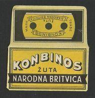 Razor Blade KONBINOS Old Vintage WRAPPER (see Sales Conditions) - Lamette Da Barba