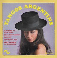 Disque Vinyle 45 Tours : TITO LEONTI  :  TANGOS ARGENTINS..voir Les 4 Titres Dans La Description..Scan A  : Voir 2 Scans - Instrumental
